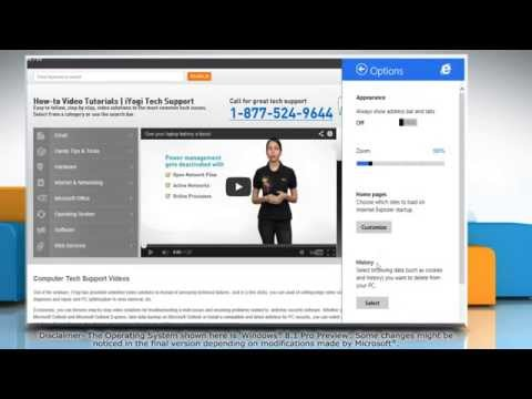 How to clear AutoComplete history in Internet Explorer® 11 on a Windows® 8.1 PC