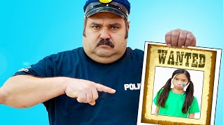 Wendy Pretend Play Funny Police Chase Story for Kids   Costume Dress Up Video for Children