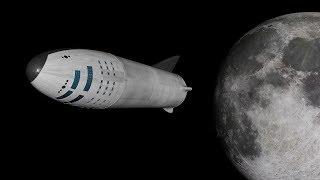 SpaceX BFR Moon Landing