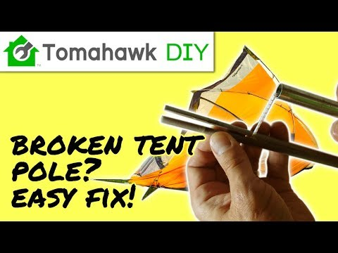How to Repair a Broken Tent Pole - EASY