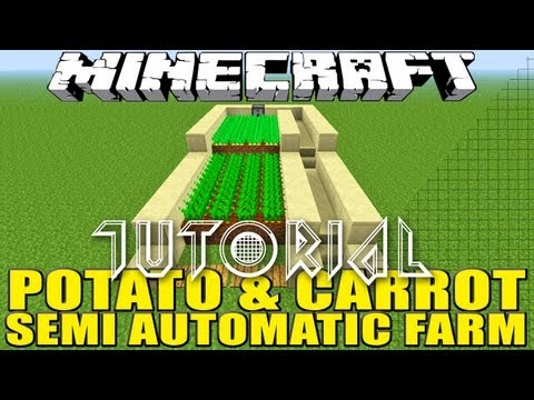 Minecraft How to Build a Potato & Carrot Semi Automatic Farm