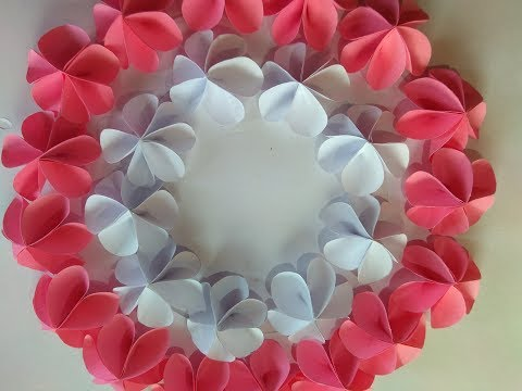 How to make a paper flower-easy origami flower instructions step by step// Paper wreath wall decor