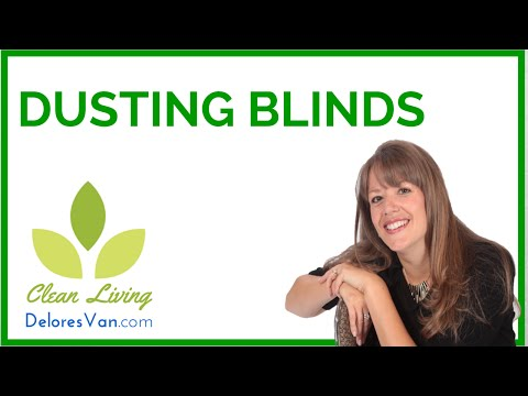 How to Dust Clean Natural Green/ Dusting Wooden Wood Blinds Jobs  Self Employed