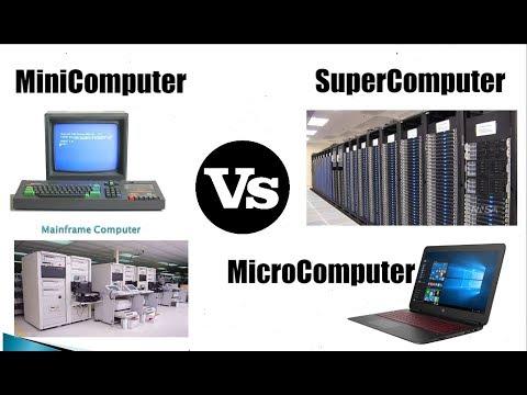 [Hindi-हिन्दी] MicroComputer VS MiniComputer VS MainframeComputer VS SuperComputer