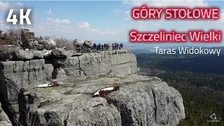 Szczeliniec Wielki Góry Stołowe - Taras Widokowy w 4K UHD