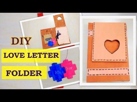 DIY 2016:Love letter folder || Valentine's Day gift idea ( Redefine craft)