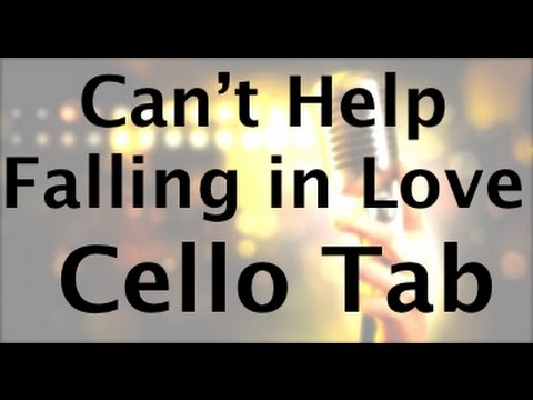 Learn Can\'t Help Falling in Love by Elvis on Cello - How to Play Tutorial