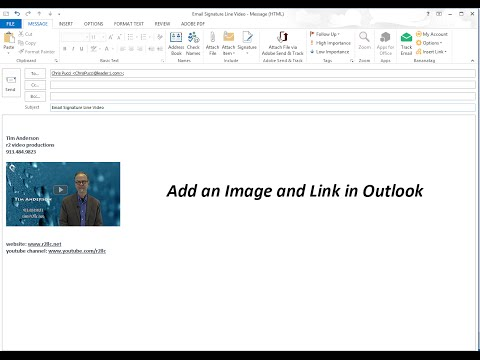 Add Image and Link to Outlook Email