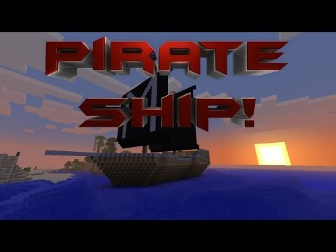 Minecraft | Pirate Ship With Working Cannons!