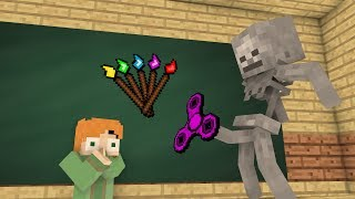 Monster School Mobs : Fidget spinner Challenge & Drawing - Minecraft Animation