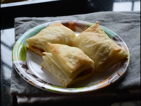 How To Make Indian Bakery Style Veg Puffs Recipe - Indian Puff Pastry Recipe