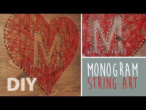 DIY Monogram String Art | ArtsyPaints