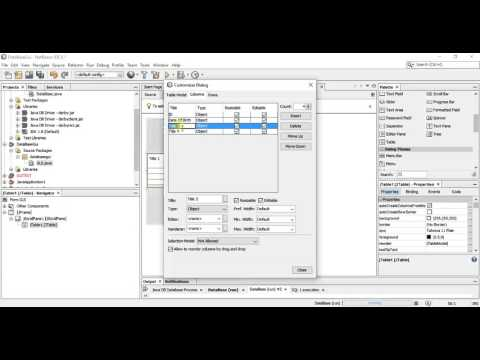 Java Tutorial - Creating a Java Gui Application with DataBase - Design View