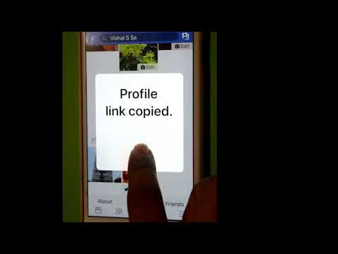How to get profile  or account link in Facebook iOS or iPhone app