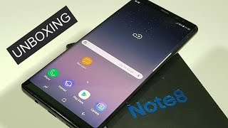 Samsung Galaxy Note 8 Midnight Black (SM-N950F) Unboxing and First Look
