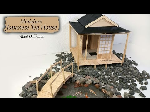 Miniature Japanese Tea House - Wood Dollhouse Tutorial