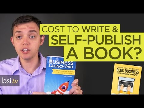 What Does it Cost to Write and Self-Publish a Book or Ebook?