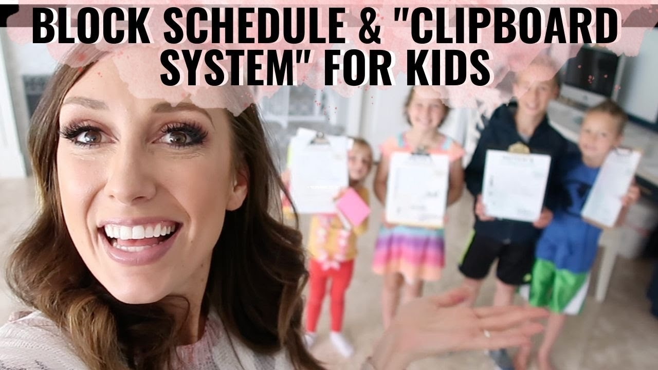Clipboard Chore System + Block Schedule for kids!