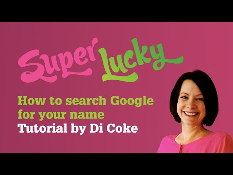 How to search Google for your name