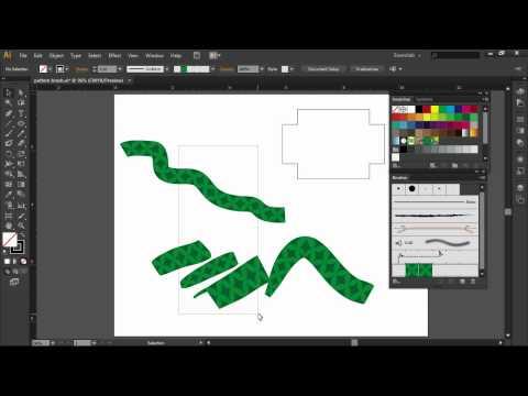 Creating a Brush Pattern in Adobe Illustrator CS6