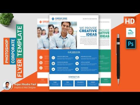 ✪ Creative Corporate Flyer Design in Photoshop : Photoshop Tutorial ✪