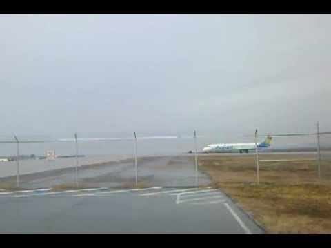 Allegiant Air Flight 798 Taxi  Plattsburgh NY:  MD-83