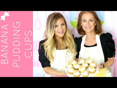 Nilla Wafer Banana Pudding Pie Cups // Lindsay Ann Bakes collab with my mom!