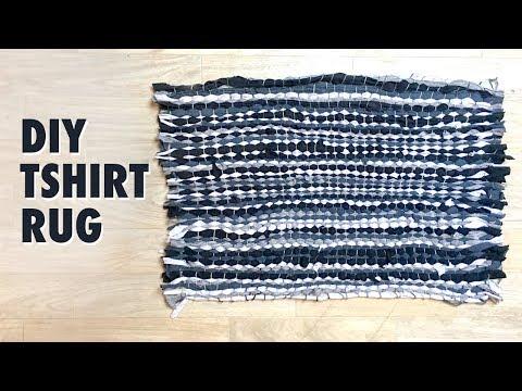 How to make a Rag Rug using T-shirts - Tshirt rug tutorial