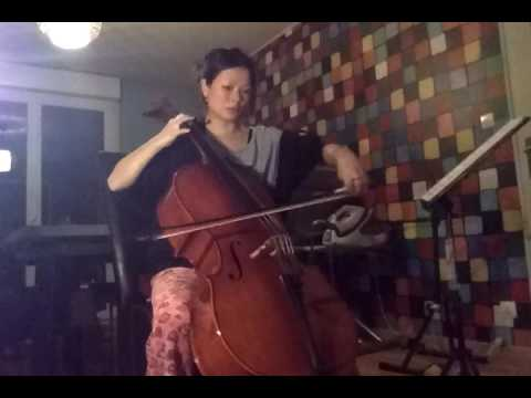 One month of cello learning, first video