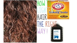 Lighter Hair Baking Soda Hydrogen Peroxide The Right Way
