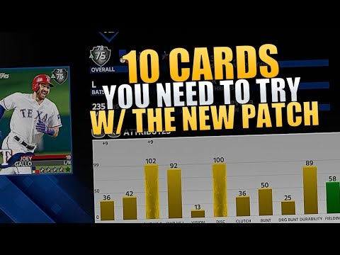 WHY DID HITTING GET HARD? 10 PLAYERS YOU NEED TO TRY POST-PATCH | MLB THE SHOW 18