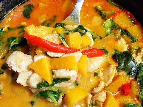 Soup Recipes : Pumpkin with Chicken in Coconut Milk Soup Recipe