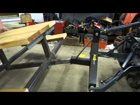 Building a Receiver Hitch Picnic Table