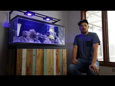 Salt Creep TV - DIY 75 Gallon Mixed Reef Tank and Stand/DIY LED Light Mount