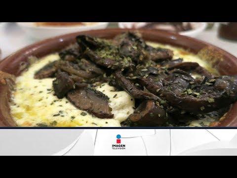 Receta de queso fundido con champiñones / Recipe cheese with mushrooms