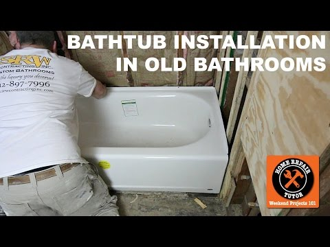 How to Install a Bathtub...American Standard's Americast (Step-by-Step)