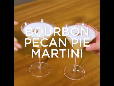 How to Make a Bourbon Peacan Pie Martini