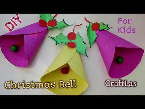 Make Amazing Paper Christmas Bells For Christmas Decorations| CraftLas