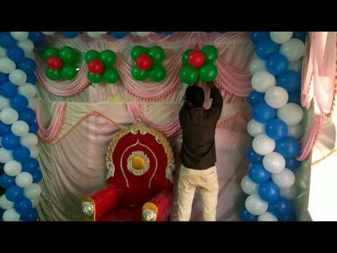 How to make Balloons decoration simply with low cost.
