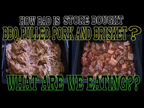 How BAD is STORE BOUGHT BBQ?? - WHAT ARE WE EATING?? - The Wolfe Pit