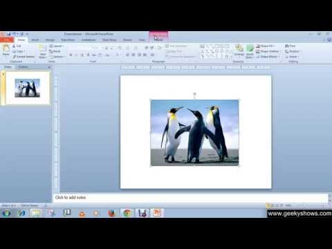 Microsoft PowerPoint 2010 Formatting Picture or Clip Arts