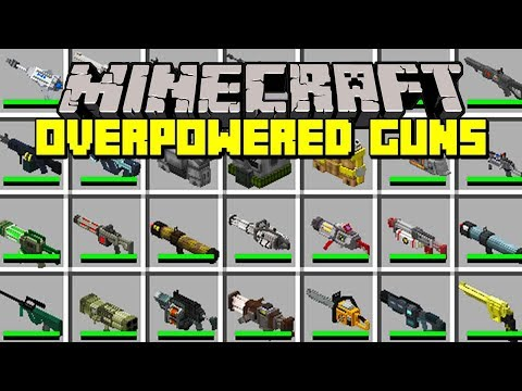 Minecraft OVERPOWRED GUNS MOD! | OP TECHGUNS, NUKES, LASERS, RAYGUNS & MORE! | Modded Mini-Game