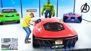 Ich KLAUE alle SUPERHELDEN AUTOS in GTA 5 RP!
