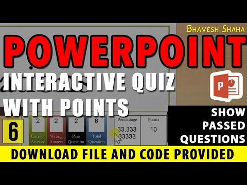 Show number of PASSED QUESTION in QUIZ GAME with POINTS in PPT [TUTORIAL] VBA + Download pt.6