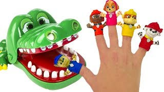 Learn Colors with Paw Patrol Family Finger Song Crocodile Dentist Lollipops