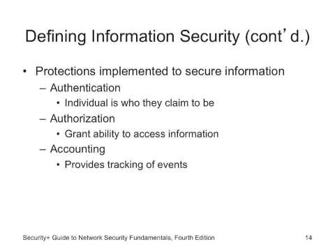 Principles for Information Security Chapter 1 part 1