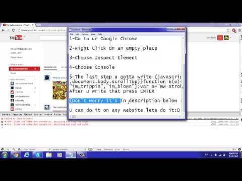 How to make Harlem Shake PC (Only Google Chrome)