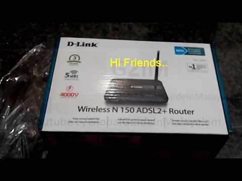 D-Link Modem/Router WiFi Password Configuration/Setting Malayalam video 2017