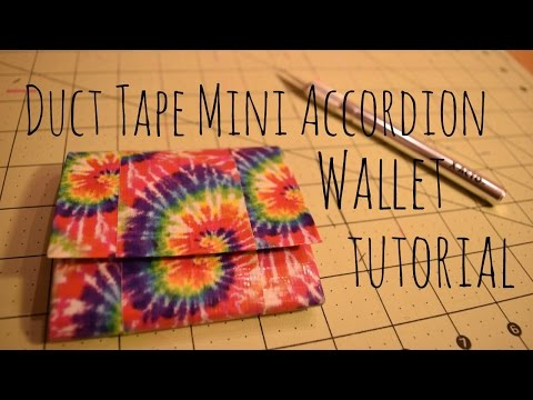 How to Make a Duct Tape Mini Accordion Wallet!
