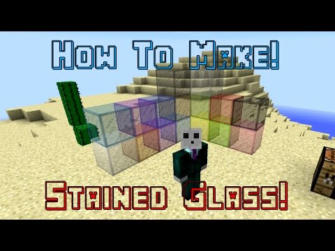 Making All Stained Glass! Minecraft 1.8